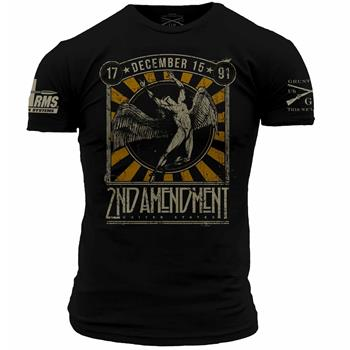 DS Arms & Grunt Style 2nd Amendment Custom T-Shirt - 2 Extra Large