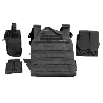 AR500 Sentry Plate Carrier w/ Pouches - No Armor - Black