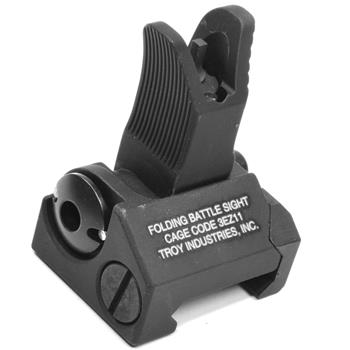 Troy Industries Folding FRONT Back Up M4 Battle Sight - Black