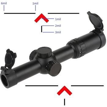 Primary Arms 1-6X24mm SFP Riflescope - Gen III - KISS Reticle