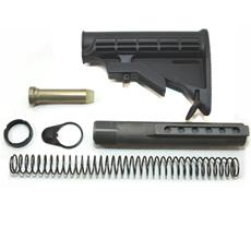 DSA AR15  Black M4 Stock Assembly with NPE Coated Buffer Tube - Mil-Spec.