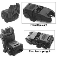 Magpul MBUS Front and Rear Folding Sight Set - Polymer - Black