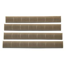 ERGO KeyMod Wedge Lok 7 Slot Rail Covers - 4 Pack - Flat Dark Earth