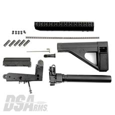 DSA FAL SA58 Pistol Lower Trigger Frame Build Kit - Arm Brace & Scope Mount Included