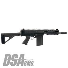 "DSA SA58 Improved Battle Pistol  - 8.25"" Barrel - Folding Arm Brace & M-LOK Handguard Included"
