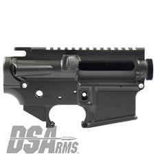 DSA ZM4 AR15 Enhanced Lower & Upper Receiver Set - DuraCoat Parker Gray