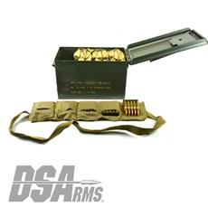 Hirtenberger 7.62x51mm NATO - 147 Grain FMJ - 400 Round Can - On Stripper Clips In Bandoliers