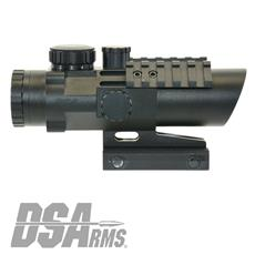 DS Arms B.R.O. (Battle Rifle Optic) 4x Prism Scope - Trilux Reticle