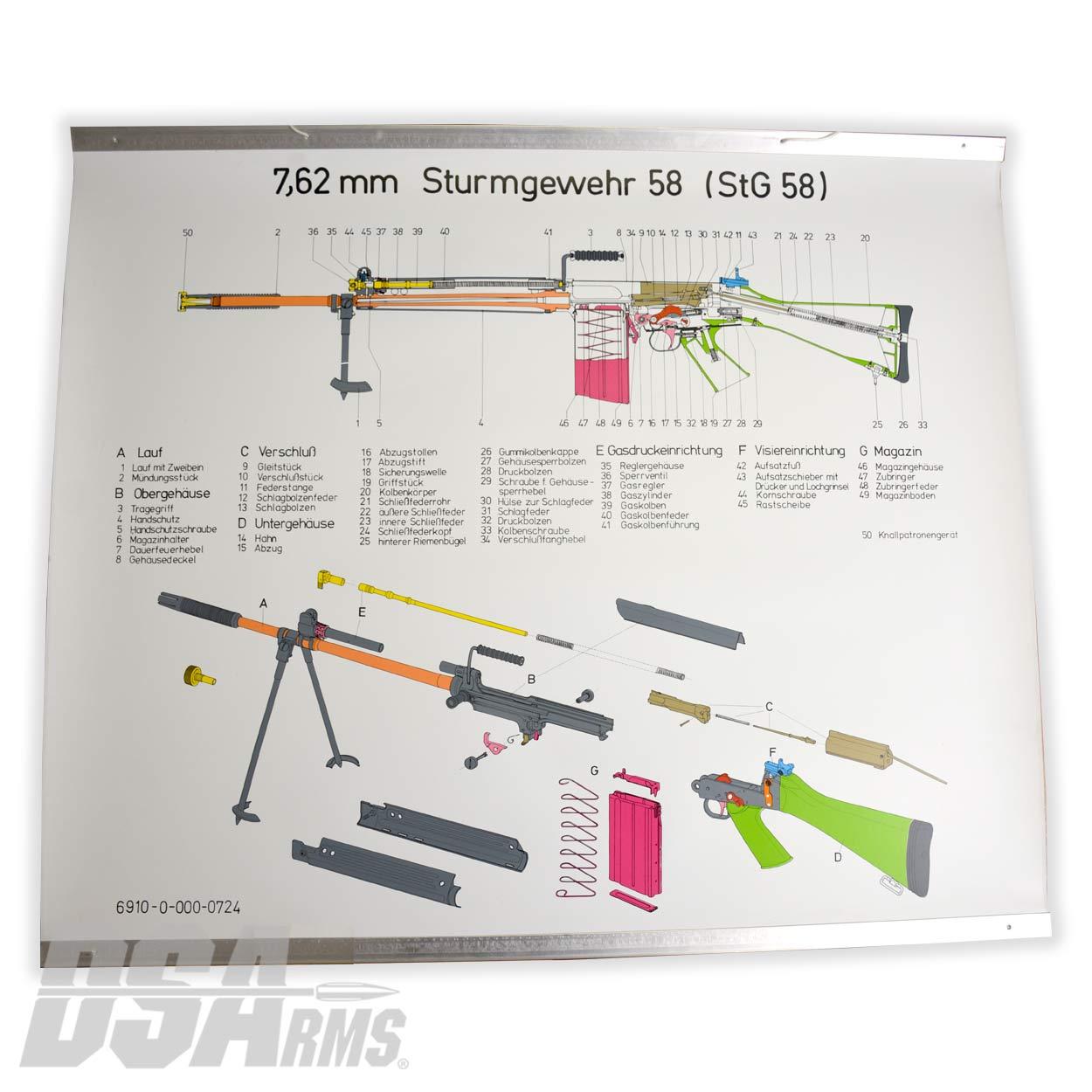 Original Steyr of Austria STG58 Rifle Schematic Original Steyr of Austria on cz schematic, cetme schematic, enfield schematic, m4 schematic, remington 870 schematic, m1 garand schematic, revolver schematic, ar parts schematic, gun schematic, winchester schematic, ar trigger schematic, mauser schematic, pistol schematic, m16 schematic, sa80 schematic, marlin model 60 schematic, akm schematic, glock schematic, ak-47 schematic, dyson schematic,