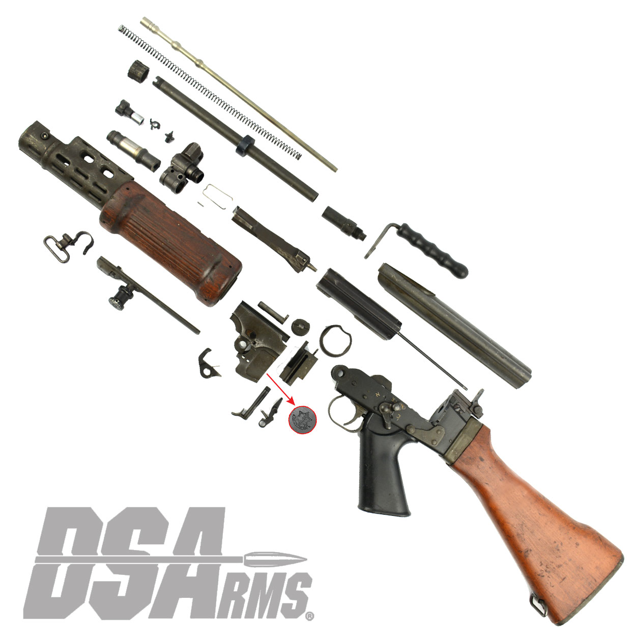 Israeli Light Barrel Pattern Complete FAL Parts Kit - Used, Good Condition  Israeli Light Barrel Pattern Complete FAL Parts Kit - Used, Good Condition