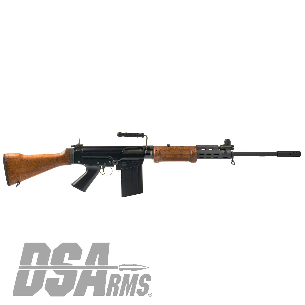 Dsa Sa58 Fal 21 Israeli Light Barrel Rifle Officer Grade Hebrew