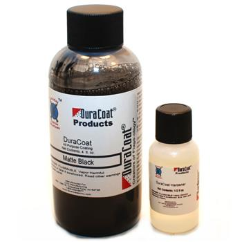 Duracoat Matte Black - 4 oz. Bottle With Hardener