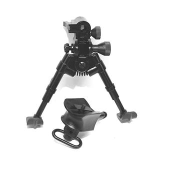 Versa-Pod model 50 super short prone bipod non-skid rubber feet with universal mounting adapter