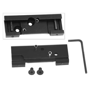 Reflex adapter for weaver rail, dual knobs, MAP price shown