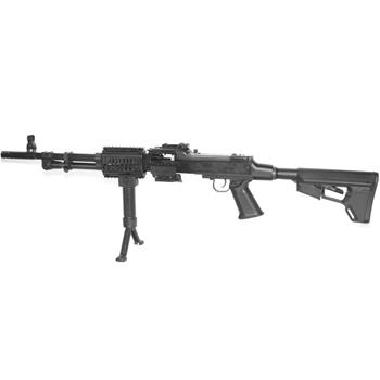 DSA RPD semi auto Carbine Model. 7.62x39mm Cal.  Includes: Alloy quad rail handguard, Magpul ACS stock, fore grip Bi-Pod, SAW bag adapter.