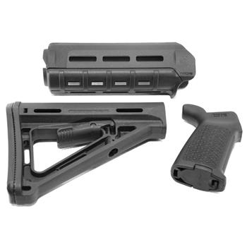Magpul Furniture Set, MOE M-LOK Carbine Handguard, MOE Stock and Grip, BLACK