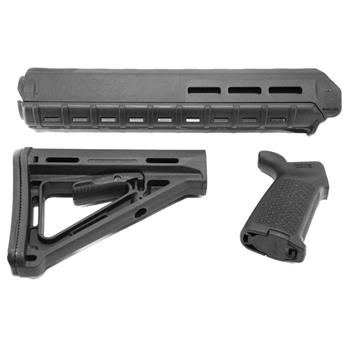 Magpul Furniture Set, MOE M-LOK Rifle Handguard, MOE Stock and Grip, BLACK