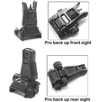 Magpul MBUS Pro Back Up Iron Sight Set - Front & Rear