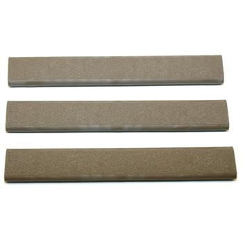 ERGO Textured Slim Line 18-Slot Low Profile Rail Covers - 3 Pack - Flat Dark Earth