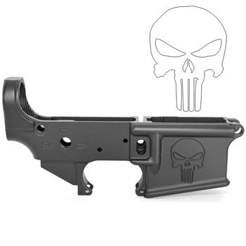 DSA AR15 ZM4 Stripped Lower Receiver - Engraved Punisher