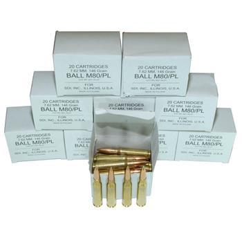 DS Arms 7.62x51MM NATO Ammunition - 146 Gr. FMJ - 200 Round Shooter Pack - 10 Boxes Of 20 Rounds