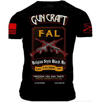 2nd Amendment Brewery - Gun Craft FAL Belgian Black Ale T Shirt - Double Extra Large