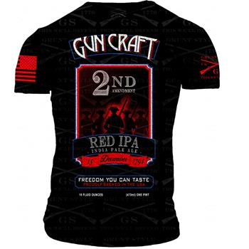 2nd Amendment Brewery - Gun Craft 2nd Amendment Red IPA T-Shirt - Medium