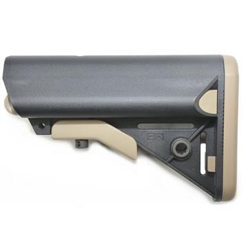 B5 Systems AR15 SOPMOD Stock - Custom Black w/ FDE Two Tone