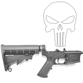 DSA AR15 ZM4 Complete Lower Receiver - Engraved Punisher