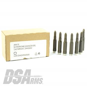 7.62x51 German DAG Production Blank Ammunition - 50 Round Box