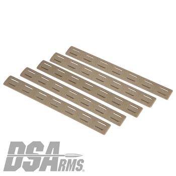 Bravo Company MCMR M-LOK Rail Covers - 5 Pack - FDE
