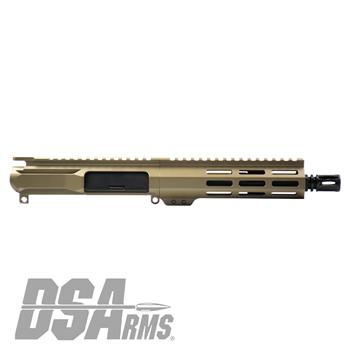 "DSA ZM4 AR15 PDW 5.56 NATO Upper Receiver Assembly - 7.5"" Barrel - FDE Finish"
