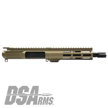 "DSA ZM4 AR15 PDW 300 BLK Upper Receiver Assembly - 7.5"" Barrel - FDE Finish"