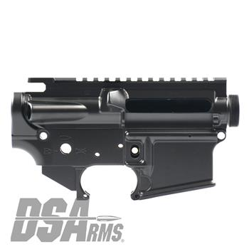 DSA ZM4 AR15 Enhanced Lower & Upper Receiver Set - DuraCoat HK Black