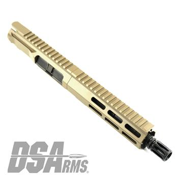 "DSA ZM4 AR15 Slim Series PDW 5.56 NATO Upper Receiver Assembly - 7.5"" Barrel - FDE Finish"