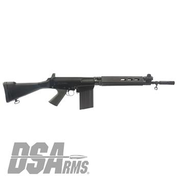 "DSA SA58 FAL 16"" Jungle Warrior Carbine - Traditional Profile Barrel, Fixed Stock Carbine"