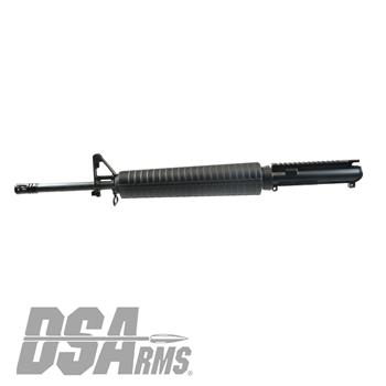"DS Arms AR15 Barreled Upper Receiver - 20"" Chrome Lined A2 Profile Barrel - 5.56x45mm - 1:7 Twist - Forged Front Sight Tower"
