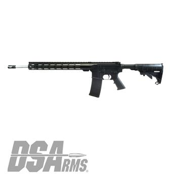 "DSA ZM4 18"" Stainless Steel Slim Series Rifle - 5.56x45mm NATO - 15"" M-LOK Handguard"